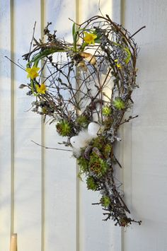 Picture result for Easter decor entrance modern Picture result for Easter . - Picture result for osterdeko house entrance modern Picture result for osterdeko house ent - Deco Nature, Deco Floral, Easter Wreaths, Summer Wreath, Easter Crafts, Spring Flowers, Grape Vines, Happy Easter, Floral Arrangements