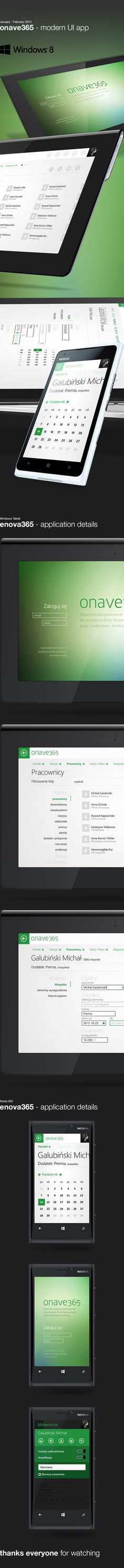 onave365 - Windows 8 app by Michal Galubinski, via Behance