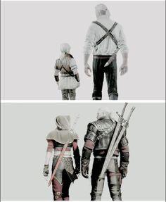 Ciri and Geralt