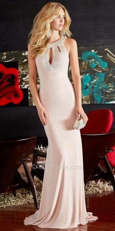 Keyhole Embellished Jersey Prom Dresses by Jovani Exclusive Collection for eDressMe #edressme