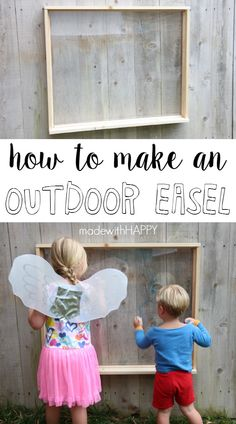 How to Make Outdoor Easel - made with HAPPY