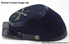7th Cavalry forage cap, side view