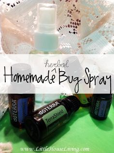 This homemade Bug Spray actually works AND it works great for keeping the ticks away as well! All natural and made with herbal oils