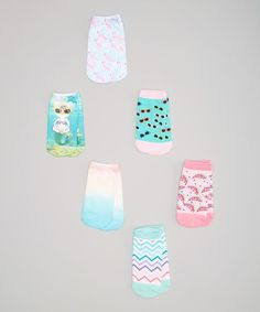 "Love this LaDeDa Socks Blue Mermaid Cat & Flamingos Sublimation No-Show Socks Set - Kids by LaDeDa Socks on <a class=""pintag searchlink"" data-query=""#zulily"" data-type=""hashtag"" href=""/search/?q=#zulily&rs=hashtag"" rel=""nofollow"" title=""#zulily search Pinterest"">#zulily</a>! <a class=""pintag searchlink"" data-query=""#zulilyfinds"" data-type=""hashtag"" href=""/search/?q=#zulilyfinds&rs=hashtag"" rel=""nofollow"" title=""#zulilyfinds search Pinterest"">#zulilyfinds</a…"