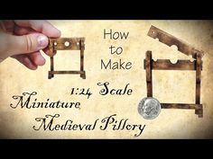 Miniature Medieval Pillory Halloween Tutorial | Dollhouse | How to Make 1:24 Scale DIY - YouTube