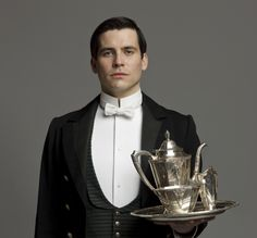 Thomas Barrow, played by Rob James-Collier on Downton Abbey. Downton Abbey Thomas, Downton Abbey Cast, Matthew Crawley, Robert Crawley, Rob James Collier, Tragic Hero, Julian Fellowes, Lady Mary, British Actors