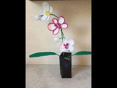 Tuto orchidée au crochet - YouTube