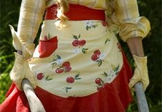 No Frills Frilly Apron Pattern