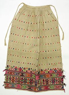Apron Date: 1800–1939 Culture: Bulgarian