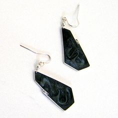 Black Pearl Earrings by Carla De La Cruz Jewelry. American Made. See the artist's work at the 2014 Buyers Market of American Craft, Philadelphia, PA. January 18-21, 2014. americanmadeshow.com #earrings, #black, #blackpearl, #jewelry, #americanmade