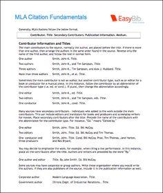 mla bibliography page