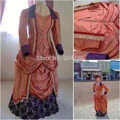Década de 1860 traje de la vendimia gótica victoriana del siglo vestido victoriano Lolita / Guerra Civil Belleza meridional vestidos de bola de Halloween(China (Mainland))
