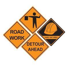 Construction Sign Cutouts (4/pkg)