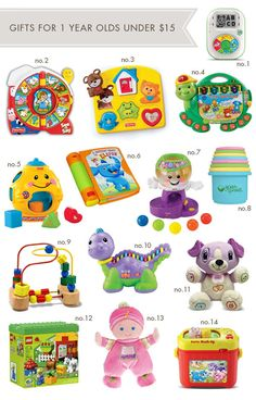 Gifts-for-1-Year-Olds. A great list! Best Toys for a 1 Year Old | All Time Favorite Crafts \u0026 DIY