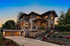 Fancy Houses, Big Houses, Big Modern Houses, Modern House Plans, Modern House Design, Home Building Design, Building A House, Luxury Homes Dream Houses, Dream House Exterior