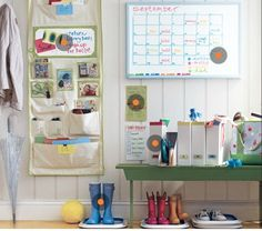 An ultimate back-to-school organizing walk-through. (Just click the orange dots where your problem areas are.)