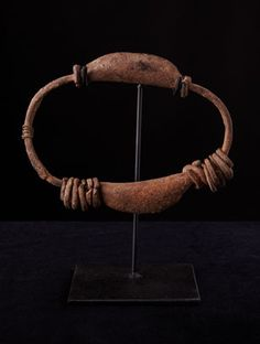Africa | A Bell Anklet from the Kafo People  of Burkina Faso | Iron | These symbols of wealth would have been worn during dance celebrations and invoke the ancestral spirits.