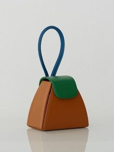 Color Block Handle Bag / Camel | Architect's Fashion