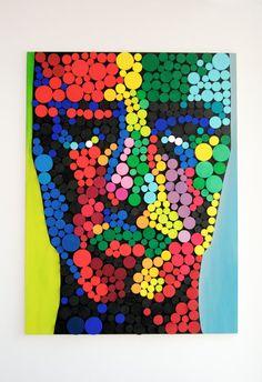 HE / Original Modern Art / 3D Wood Wall Mosaic