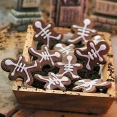 Chocolate Skeleton Cookies Recipe -Put these cute treats out for your next ghost and goblin party and watch them disappear.--Lisa Rupple, Keenesburg, Colorado