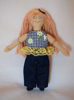 Toy Doll - Strawberry Blond Girl - Handmade For Kids