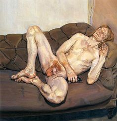 naked-man-with-rat A nudez na obra de Lucien Freud repele a idealização e abraça a ideia da mortalidade. Lucian Freud morreu em 20 de julho de 2011, aos 89 anos, e dedicou sua longa carreira à pintura de figuras humanas e retratos da vida, ignorando todas as tendências do mundo da arte de sua época.