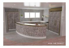 New Modern Kollektion - Nise The Family Stone Walls, Grey Stone, Cliff, Corner Bathtub, Alaska, Rooms, Flooring, 3d, Interior