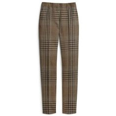 Mulberry Joanne Trousers (21.550 RUB) ❤ liked on Polyvore featuring pants, trousers, cigarette trousers, brown pants, print pants, tailored cigarette trousers and patterned trousers
