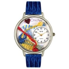 Crochet Royal Blue Leather And Silvertone Watch #U0450011 - http://www.artistic-watches.com/2013/02/17/crochet-royal-blue-leather-and-silvertone-watch-u0450011/