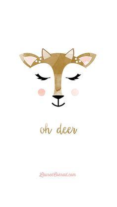 Oh Deer tech wallpaper by YellowHeartArt on LaurenConrad.com