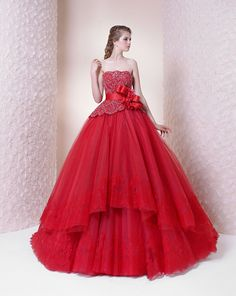 Red Black Ball Gown Quinceanera Dresses Prom Evening Dress Wedding