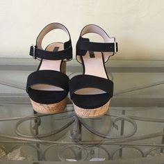 TOP SHOP Heavenly Platform Sandals in Black Top Shop Heavenly Women's Platform Sandals in Black Faux Leather Uppers. Topshop Shoes Sandals