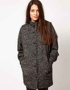 Selected Cocoon Jacket in Wool