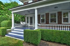 A classic traditional 1907 shingle style house in Southampton, Long island, New York has been impeccably maintained and restored. Southampton New York, Village Houses, Estate Homes, Luxury Real Estate, The Hamptons, Interior Architecture, Luxury Homes, Pergola, Restoration