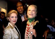 Caroline Herrer, Andre Talley and Nan Kempner K30208rhart Andre Talley's Book Party at Bergdorf Goodman in New York City 4/22/2003 Photo By:rose Hartman/Globe Photos, Inc