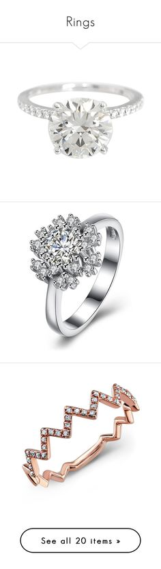 """Rings"" by basketballislife11 ❤ liked on Polyvore featuring jewelry, rings, silver, 18k diamond ring, colorful diamond rings, diamond wedding rings, pre owned wedding rings, tri color wedding rings, snowflake jewelry and snowflake ring"
