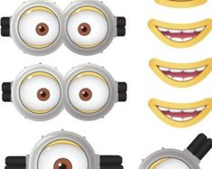 image relating to Minion Goggles Printable named 21 Perfect Minions eyes. And minion craft , Replica pictures within just 2019