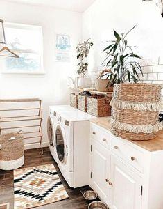 Creative Home Décor Ideas For Small Spaces Home Decor Signs, Home Decor Styles, Diy Home Decor, Decor Room, Home Decor Baskets, Laundry Room Design, Contemporary Home Decor, Inspired Homes, Creative Home