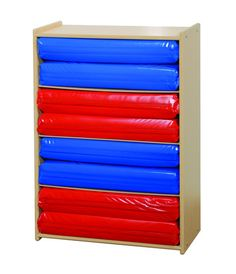 Four Section Rest Mat Storage Unit. GreenGuard Children & Schools Indoor Air Quality Certified from Honor Roll Childcare Supply.
