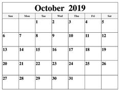 Get October 2019 Calendar Template Word Document, Monthly Calendar Blank Template for October 2019 in PDF, Word, and Excel Format which is easy to edit Blank Calendar Pages, Calendar Layout, Monthly Calendar Template, Monthly Planner, Calendar Printable, October Calendar, Today Calendar, 2019 Calendar, Templates Printable Free