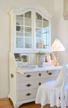 Secretary desk - i have inherited one so i am going to paint it white and use it as a dressing table!!! thanks :-)