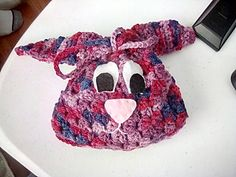 Cute pattern that worked up quickly. I decided felt eyes and noses would be cute, and they took almost as long to do as making the bags but look great.