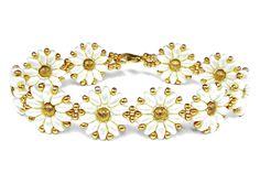 Tutorial: flower bracelet [easy] SuperDuo beads / Цветочный браслет из с...