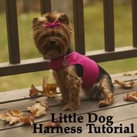 Little Dog Harness - Pattern and tutorial from Dog Under My Desk #DogHarness