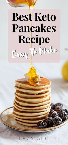 Best Keto Pancakes Recipe Easy To Make There?s no need to miss out on pancake breakfasts when you are on low carb. These almond flour pancakes take breakfast to the next level: low carb gluten-free and over-the-top tasty. These actually are the best ke Best Keto Pancakes, Low Carb Pancakes, Pancakes Easy, Breakfast Pancakes, Low Carb Breakfast, Breakfast Recipes, Dessert Recipes, Breakfast Ideas, Pancake Recipes