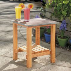 With something for the absolute beginner and expert alike, these 12 DIY outdoor furniture projects will transform your patio or deck. Tile Patio Table, Tile Tables, Patio Chairs, Outdoor Chairs, Furniture Projects, Wood Projects, Building Furniture, Furniture Stores, Pallet Furniture