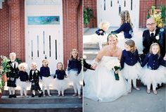 OMG -- the flower girls in white tutus and navy cardigans -- SO CUTE!!!