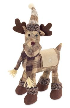 MELROSE GIFTS Plaid Moose Decoration available at #Nordstrom