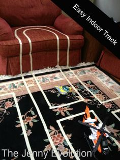 Fast, Easy Indoor Race Car Track for Kids with Painters Tape or Masking Tape | The Jenny Evolution