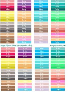 free happy planner Today ToDo labels #freeplannerprintables #printables…